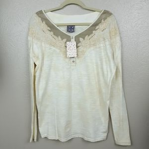 NEW Free people boho embroidered top